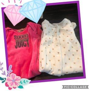 Bundle of 2 Juicy Couture 3-6M footsies 🎀🧸🎀🧸